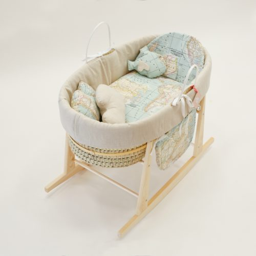baby bassinet world map