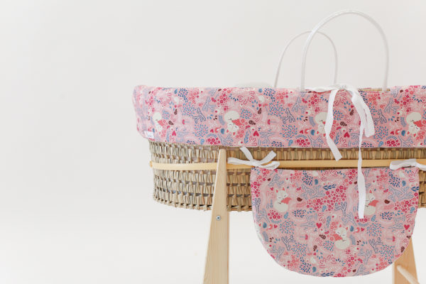 moses baby basket pink