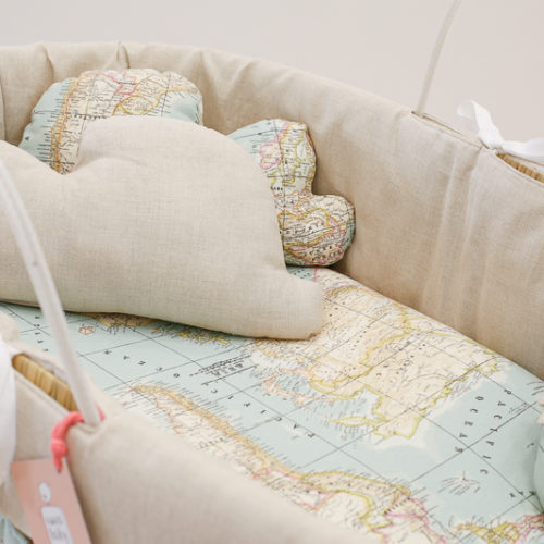 moses baby basket world map